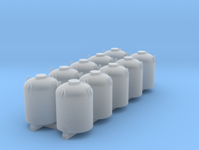 Cement Container - Set - Zscale in Smooth Fine Detail Plastic