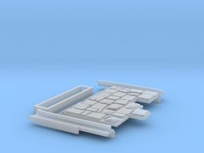 0552 Komplettset Endstück mit Pflaster und Rillen in Frosted Ultra Detail