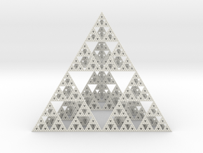 Sierpinski 150mm in White Strong & Flexible