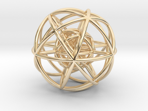 Wheels within Wheels - 9 axes - 24mm in 14K Yellow Gold