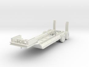 FW04 M15 40 Ton Trailer (1/100) in White Natural Versatile Plastic