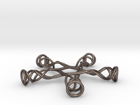 Pentagonal Knot in Polished Bronzed Silver Steel
