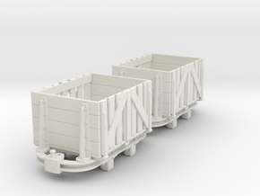 O9 skip slatted ends in White Natural Versatile Plastic