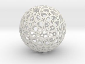 Islamic star ball with ten-pointed rosettes in White Natural Versatile Plastic