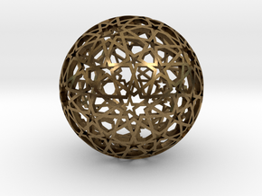 Islamic star ball with ten-pointed rosettes in Natural Bronze