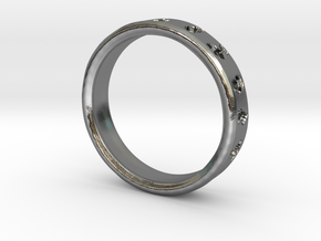 Pokemon Ring in Polished Silver: 6 / 51.5
