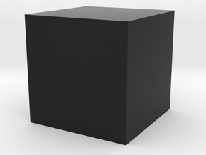 cube 1cm centered in Black Strong & Flexible
