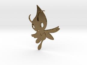 Celebi Pendant - Pokemon in Natural Bronze