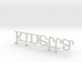 Extruded Kinetta Logo March 2012 in White Natural Versatile Plastic