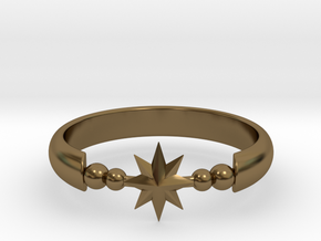 Ring of Star 20.6mm  in Polished Bronze
