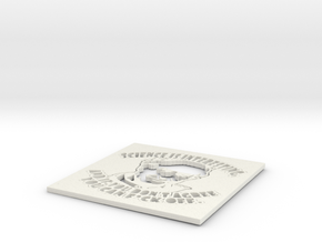 Science is interesting! - Richard Dawkins stencil in White Natural Versatile Plastic
