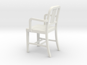 1:24 Alum Chair 1 (Not Full Size) in White Natural Versatile Plastic