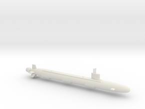 1/700 Virginia Class Submarine in White Natural Versatile Plastic