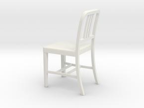 1:24 Alum Chair 2 (Not Full Size) in White Natural Versatile Plastic