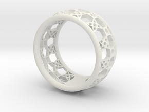 anello fascia traforata in White Natural Versatile Plastic