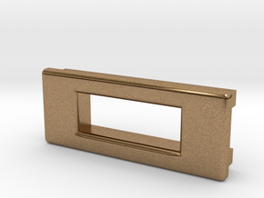 Screen Cradle - Rectangle with Filet Edges in Natural Brass