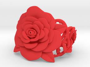 Rose Bracelet in Red Strong & Flexible Polished