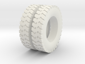 1:64 scale ground gripper tires for dayton wheels in White Natural Versatile Plastic
