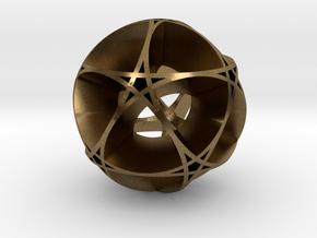Pentragram Dodecahedron 1 (wide) in Natural Bronze