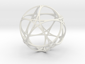 Pentragram Dodecahedron 1 (narrowest) in White Natural Versatile Plastic