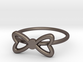 Knuckle Bow Ring, subtle and chic. in Polished Bronzed Silver Steel