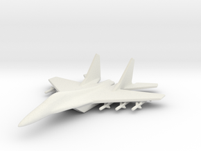 1/285 (6mm) Mig-35 Fighter in White Strong & Flexible
