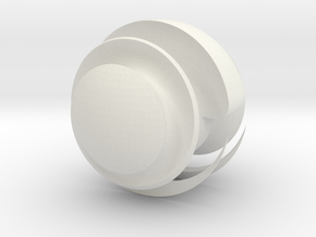 Sharp Sphere in White Natural Versatile Plastic