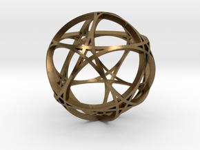 Pentagram Dodecahedron 1 (narrow, medium) in Natural Bronze