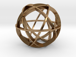 Icosidodecahedron (narrow) in Natural Brass