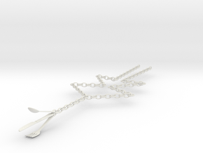Fork, Spoon & Knife Necklace in White Strong & Flexible