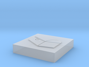 """Square Token - 1"""" Chest in Smooth Fine Detail Plastic"""