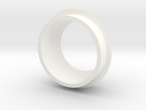 Star Bird turret ring in White Processed Versatile Plastic