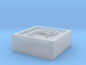 """Square Token - 0.5"""" Poison in Smooth Fine Detail Plastic"""