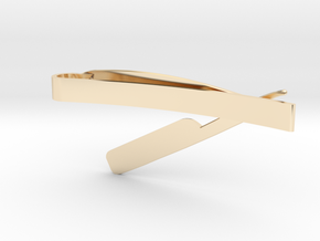 RAZOR MONEY/TIE CLIP in 14K Yellow Gold