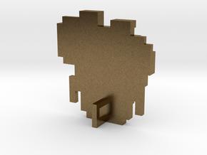 Link 8 Bit Charm in Natural Bronze