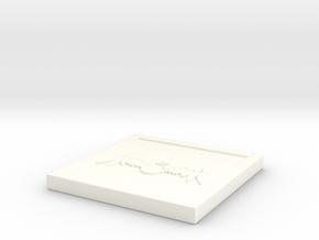 """Square - 2"""" Celestial in White Processed Versatile Plastic"""
