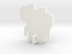 Link 8 Bit Charm in White Processed Versatile Plastic