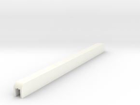 TraylessAdapterV2FINAL in White Strong & Flexible Polished