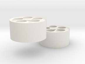 30mm wheel pair in White Natural Versatile Plastic