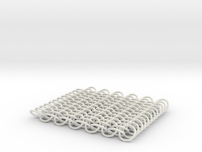 chainmail 6x12  in White Natural Versatile Plastic