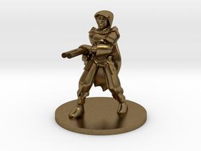 Adran, Elven Shotgun Ranger 1:54 scale in Natural Bronze