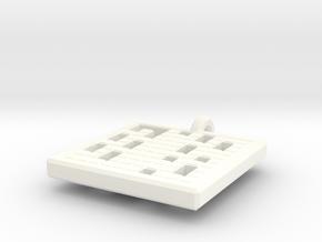 prime numbers 1-100 pendant in White Processed Versatile Plastic