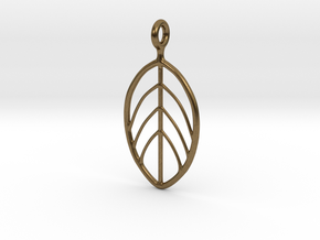 Apple Leaf Pendant in Natural Bronze