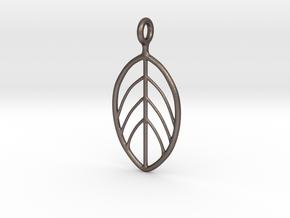 Apple Leaf Pendant in Stainless Steel