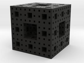 Menger Sponge 3 iterations in Black Strong & Flexible