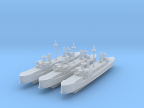 Hydra Class Ironclad 1:3000 x3 in Smooth Fine Detail Plastic