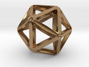 Icosahedral Pendant  28mm in Natural Brass