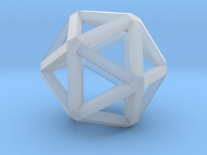 Icosahedron Thick Wireframe 25mm in Smooth Fine Detail Plastic