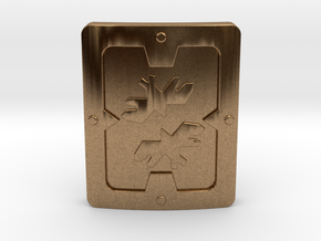 Reinforced Shield in Natural Brass