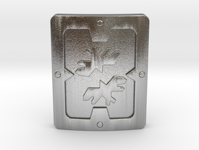 Reinforced Shield in Natural Silver